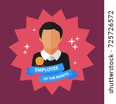 employee of the month flat... | Shutterstock .eps vector #725726572