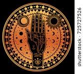 vintage fortune teller hand... | Shutterstock .eps vector #725727526
