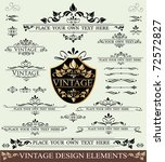 vector set of vintage design... | Shutterstock .eps vector #72572827