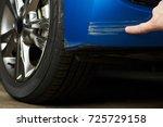 paint scratch on car. insurance ...   Shutterstock . vector #725729158