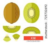 kiwi. whole kiwifruit and parts ...