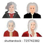great classical music composers | Shutterstock .eps vector #725742382