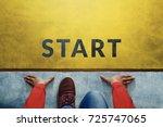 start background  top view of...   Shutterstock . vector #725747065