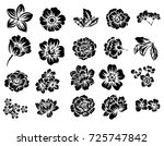 flower set | Shutterstock .eps vector #725747842