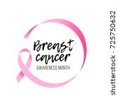 breast cancer awareness month... | Shutterstock .eps vector #725750632