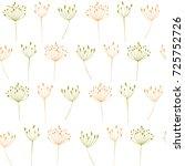 vector vintage seamless pattern ... | Shutterstock .eps vector #725752726