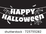 halloween background vector... | Shutterstock .eps vector #725755282
