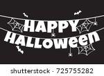 halloween background vector... | Shutterstock .eps vector #725755282
