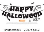 halloween background vector... | Shutterstock .eps vector #725755312