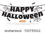halloween background vector... | Shutterstock .eps vector #725755312