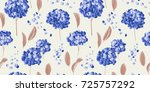 seamless pattern  blue... | Shutterstock .eps vector #725757292