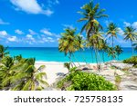 bottom bay  barbados   paradise ... | Shutterstock . vector #725758135