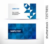 vector business card set | Shutterstock .eps vector #72575851