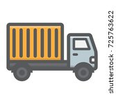 delivery truck filled outline...
