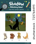 shadow matching game by finding ... | Shutterstock .eps vector #725764495