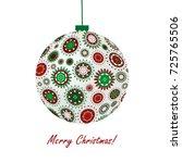 christmas ball made of...   Shutterstock .eps vector #725765506