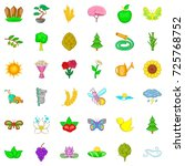 water icons set. cartoon style... | Shutterstock .eps vector #725768752