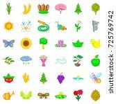 field icons set. cartoon style... | Shutterstock .eps vector #725769742