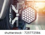 car steering wheel balancer...   Shutterstock . vector #725772586