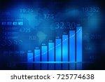 2d rendering stock market... | Shutterstock . vector #725774638