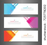 set three colorful abstract... | Shutterstock .eps vector #725778202