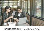 successful business people... | Shutterstock . vector #725778772