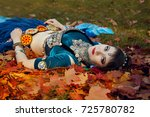 dancer tribal maple leaves   Shutterstock . vector #725780782