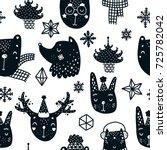 christmas background  vector... | Shutterstock .eps vector #725782042