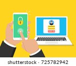 two steps authentication... | Shutterstock .eps vector #725782942