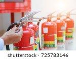 engineer inspection fire... | Shutterstock . vector #725783146