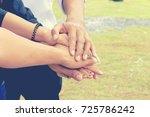 business teamwork meeting in... | Shutterstock . vector #725786242