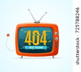 retro tv not found broadcasting ... | Shutterstock .eps vector #725788246