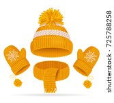 realistic 3d yellow hat with a... | Shutterstock .eps vector #725788258