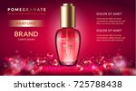 pomegranate perfume ads ... | Shutterstock .eps vector #725788438