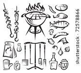 vector barbecue party | Shutterstock .eps vector #72578866