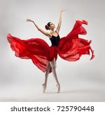 ballerina. young graceful woman ... | Shutterstock . vector #725790448