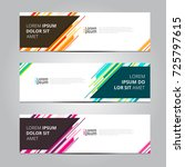 vector abstract design banner... | Shutterstock .eps vector #725797615