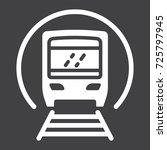 subway train glyph icon ...