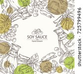 background with soy sauce  a... | Shutterstock .eps vector #725799496