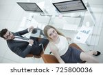 experienced company employees... | Shutterstock . vector #725800036