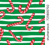 candy cane vector christmas... | Shutterstock .eps vector #725800702