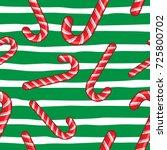 candy cane vector christmas... | Shutterstock .eps vector #725800702