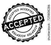 grunge black accepted round... | Shutterstock .eps vector #725808286