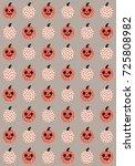 fun halloween seamless pattern... | Shutterstock .eps vector #725808982