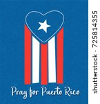 puerto rican flag with blue... | Shutterstock .eps vector #725814355