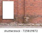 mock up. vertical blank... | Shutterstock . vector #725819872