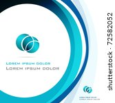 vector elegant blue abstract... | Shutterstock .eps vector #72582052
