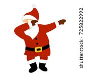 santa claus vector illustration ... | Shutterstock .eps vector #725822992