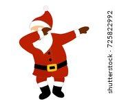 dancing santa claus hipster... | Shutterstock .eps vector #725822992