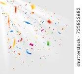 colorful confetti. falling... | Shutterstock .eps vector #725823682